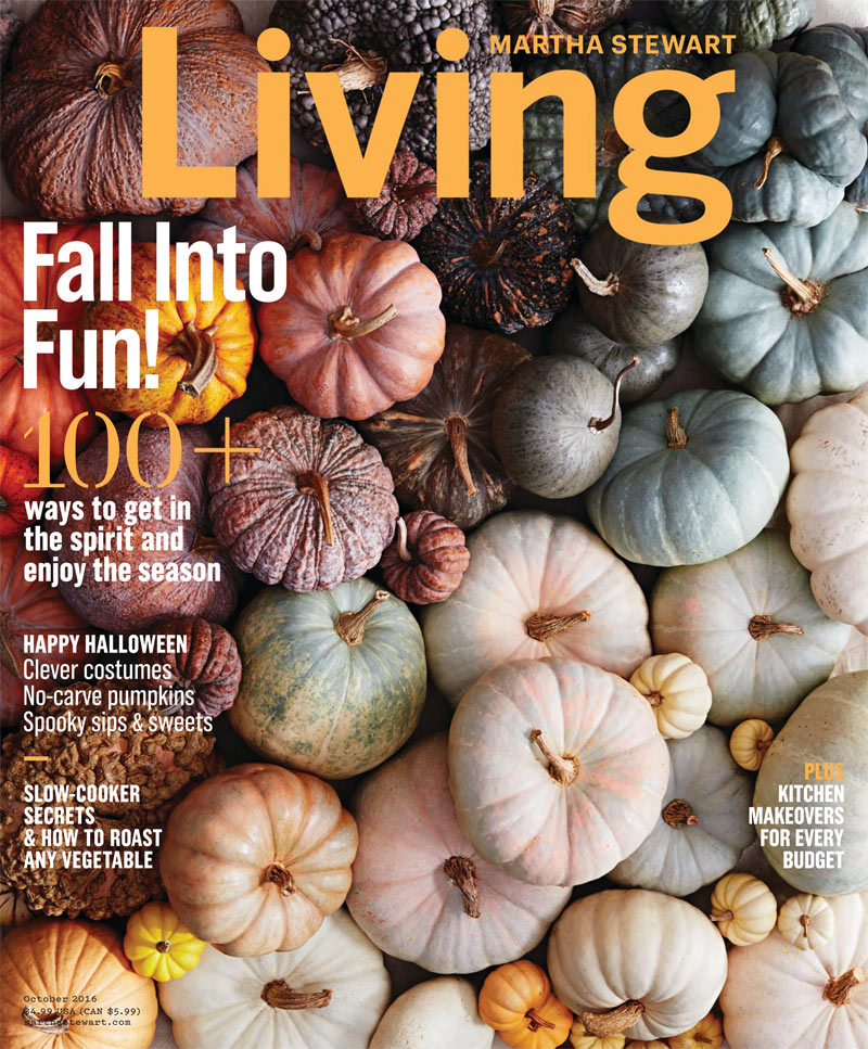 Martha Stewart Living October 2016 featuring Fletchers' Mill Nesting Boxes